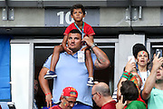 Cristiano Ronaldo's son seen before the beginning of the match. Portugal won the Euro Cup beating in the final home team France at Saint Denis stadium in Paris, after winning on extra-time by 1-0.