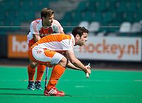 ROTTERDAM - HOCKEY - Stopper Valentin Verga  tijdens de oefenwedstrijd tussen de mannen van Nederland en Engeland (2-1) . FOTO KOEN SUYK