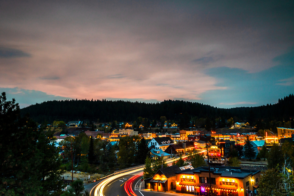 """""""Downtown Truckee 79"""" - Long exposure photograph shot just after sunset in Downtown Truckee, California."""