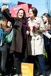 Pictured: Kezia Dugdale<br /> <br /> Scottish Labour leader Kezia Dugdale today launched a new billboard poster for the final weekend of campaigning before the Scottish Parliament election on Thursday 5 May. She was joined by supporters and fellow candidates such as Sarah Boyack; Lesley Hinds and Daniel Johnston<br /> <br /> Ger Harley | EEm 30 April 2016