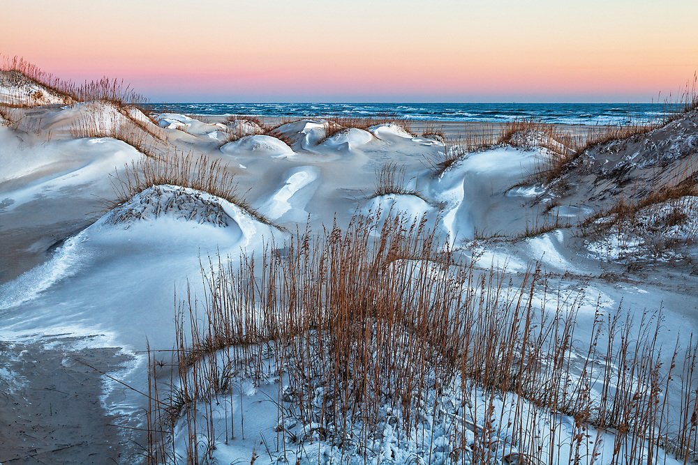 Dunes of Hatteras Island with a dusting of snow