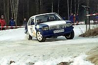 Motorsport, Rally Solør 2000. Odd Reidar Riiser / Pål Ronny Fossum. NAF Motorsport Romerike. Opel  kl. 11. . Foto: Digitalsport, Jan A. Holshagen