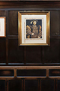 A picture of King Henry Viii, Reigned 1509 - 1547 at Ye Olde Mitre Tavern on the 4th October 2019 in London in the United Kingdom. Ye Olde Mitre Tavern is a traditional 1547 real ale pub in central London.