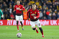 Manchester United Midfielder Andreas Pereira during the The FA Cup match between Wolverhampton Wanderers and Manchester United at Molineux, Wolverhampton, England on 16 March 2019.