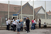 Visitors queueing at the main gate. HM Prison Styal is a Closed Category prison for female adults and young offenders, located in the village of Styal (near Wilmslow) in Cheshire, England. The prison is operated by Her Majesty's Prison Service. Styal is a Closed Category prison for sentenced and remanded female adults and young offenders. There are also facilities for mothers with babies up to age 18 months. The education provision at Styal is contracted out to The Manchester College. Courses offered include hairdressing, information technology, art and design, ESOL, catering, industrial cleaning, painting & decorating, and Open University support.