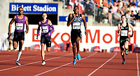 Friidrett ,  11. juni 2015 , Diamond League , Bislett Games , Oslo<br />  Atheltics<br /> 400 m<br /> Steven Gardiner , BAH<br /> Matthew Hudson-Smith , GBR<br /> Pavel Maslak , CZE