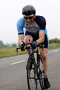 UK, Chelmsford, 28 June 2009: ANDY SHERIDAN (V) MALDON & DISTRICT CC completed the E9 / 25 course in 1 hour 12 mins 39 secs. Images from the Chelmer Cycle Club's Open Time Trial Event on the E9 / 25 course. Photo by Peter Horrell / http://peterhorrell.com .