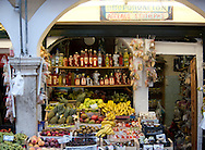 A green grocer in Corfu old town, Corfu, The Ionian Islands, The Greek Islands, Greece, Europe