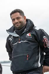 Mohsin Al Busaidi (OMA) before racing. Oman Sail's MOD70 Musandam races in the Eckernförde race at  Kiel week 2014, 21-06-2014, Kiel - Germany.