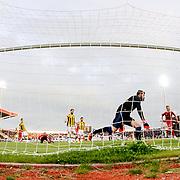 Medicana Sivassspor's scores during their Turkish soccer super league match Medicana Sivasspor between Fenerbahce at 4 Eylul Stadium in Sivas Turkey on Saturday, 09 May 2015. Photo by Aykut AKICI/TURKPIX