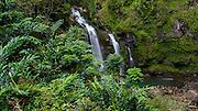 Waikani Falls, AKA Three Bears, Hana Road, Maui, Hawaii