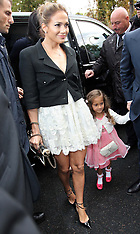 OCT 02 2012 Jennifer Lopez at the Chanel show in Paris