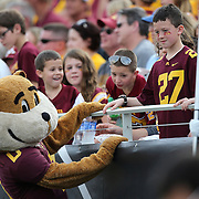 ORLANDO, FL - JANUARY 01:  The Minnesota Golden Gophers mascot is seen during the Buffalo Wild Wings Citrus Bowl between the Minnesota Golden Gophers and the Missouri Tigers at the Florida Citrus Bowl on January 1, 2015 in Orlando, Florida. (Photo by Alex Menendez/Getty Images) *** Local Caption ***