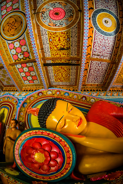 Reclining Buddha, Isurumuniya Temple, Anuradhapura, Sri Lanka. Anuradhapura is one of the ancient capitals of Sri Lanka, famous for its well-preserved ruins of an ancient Sri Lankan civilization.