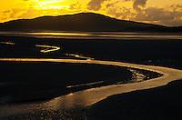 Bancos de arena de Luskentyre en fiordo de Taransay. Luskentyre Banks in Sound of Taransay. South Harris Island. Outer Hebrides. Scotland, UK