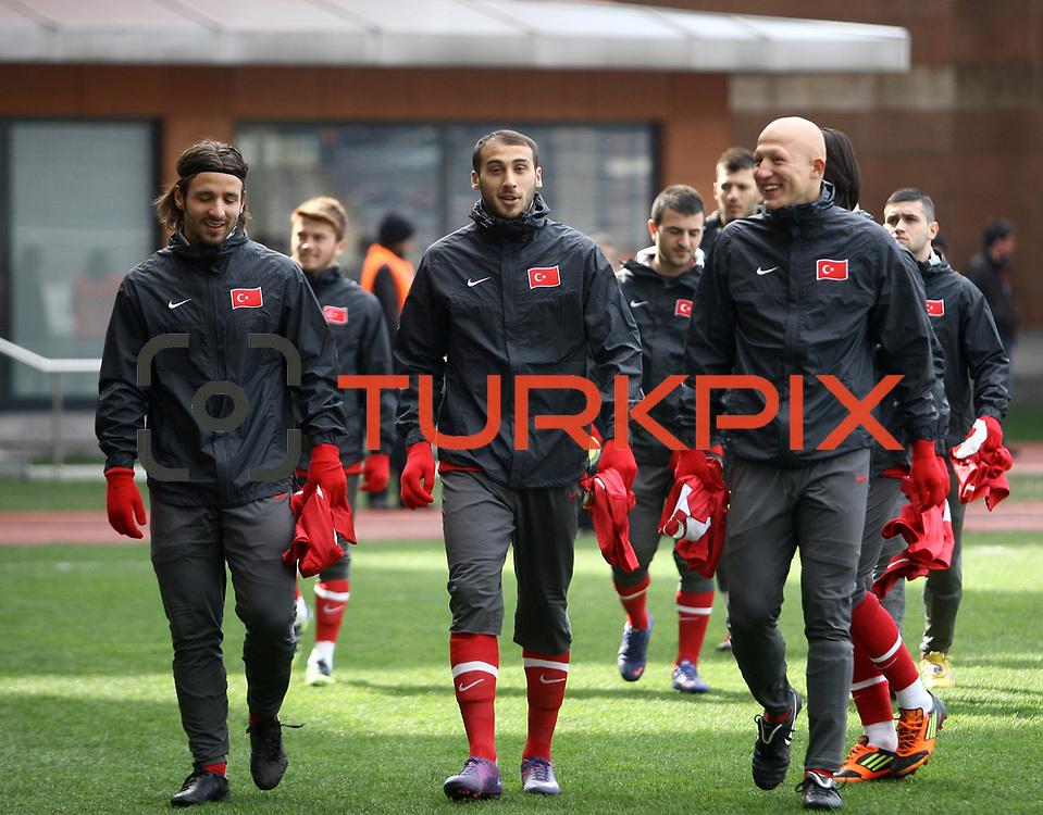 Turkey U21's Cenk Tosun during their friendly soccer match Turkey U21 betwen Denmark U21 at Recep Tayyip Erdogan stadium in Istanbul February 29, 2012. Photo by TURKPIX