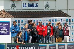 Guerdat Steve, SUI, Fanny Skalli, FRA, Fuchs Thomas, SUI, Kistler Andy, SUI<br /> CSIO La Baule 2018<br /> © Dirk Caremans<br /> 17/05/2018