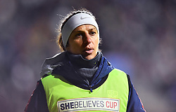 February 27, 2019 - Chester, PA, U.S. - CHESTER, PA - FEBRUARY 27: US Midfielder Carli Lloyd (10) warms up on the sidelines in the second half during the She Believes Cup game between Japan and the United States on February 27, 2019 at Talen Energy Stadium in Chester, PA. (Photo by Kyle Ross/Icon Sportswire) (Credit Image: © Kyle Ross/Icon SMI via ZUMA Press)