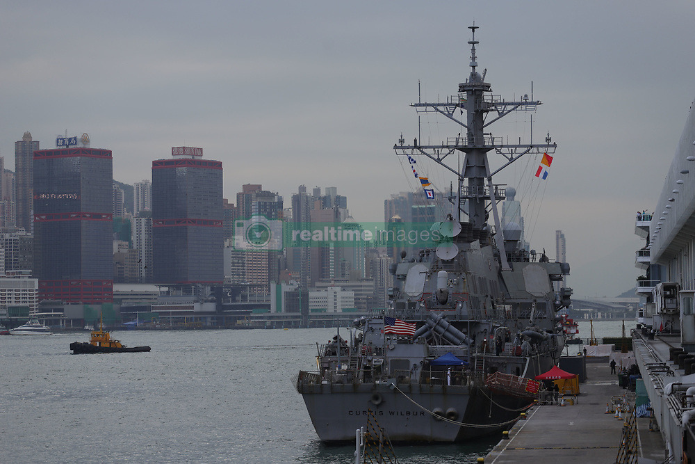 November 22, 2018 - Hong Kong, CHINA - USS CURTIS WILBUR, a missile-guided destroyer is seen here berthed at Ocean Terminal in the heart of the city during visit led by USS RONALD REAGAN Battlegroup.Navy-22,2018 Hong Kong.ZUMA/Liau Chung-ren (Credit Image: © Liau Chung-ren/ZUMA Wire)