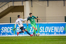 Erik Gliha of Slovenia during football match between Slovenia and France in Qualifying round for European Under-21 Championship 2019, on November 13, 2017 in Sportni park, Domzale, Slovenia.  Photo by Ziga Zupan / Sportida