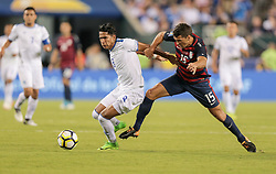 July 19, 2017 - Philadelphia, PA, USA - Philadelphia, PA - Wednesday July 19, 2017: Dennis Pineda, Eric Lichaj during a 2017 Gold Cup match between the men's national teams of the United States (USA) and El Salvador (SLV) at Lincoln Financial Field. (Credit Image: © John Dorton/ISIPhotos via ZUMA Wire)