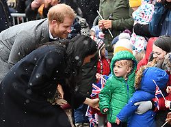 Prince Harry and Meghan Markle visit Bristol Old Vic and meet the public in Bristol, UK, on the 1st February 2019. 01 Feb 2019 Pictured: Prince Harry, Duke of Sussex, Meghan Markle, Duchess of Sussex. Photo credit: James Whatling / MEGA TheMegaAgency.com +1 888 505 6342