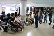 Sixteen illegal tour guides arrested touting Pattaya sex shows<br /> <br /> Pattaya city officials raided walking Street and arrested tour guides who were, allegedly, distributing leaflets, brochures and photographs advertising live sex shows.<br /> <br /> Officers arrested sixteen tour guides, including two Russian nationals, and impounded their promotional material.<br /> <br /> They have been charged with 'causing nuisance and harassment to tourists.'<br /> ©Exclusivepix Media
