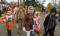 Pleasant Street School took over the streets of Laconia Wednesday afternoon for their Halloween Parade.  (Karen Bobotas/for the Laconia Daily Sun)