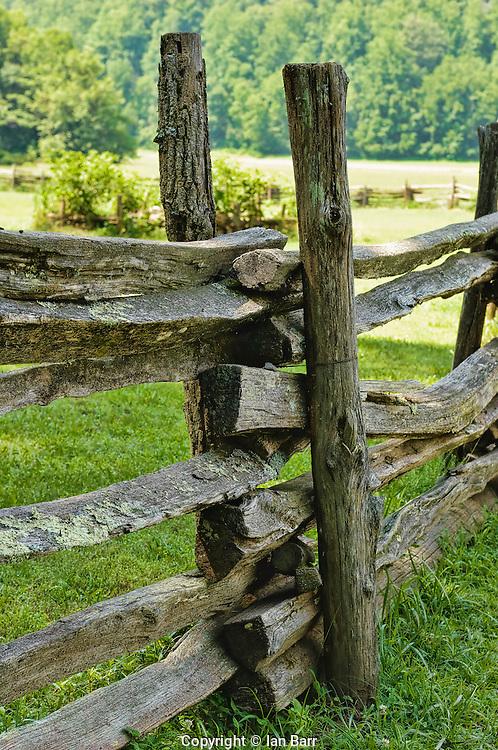 Rail Fence,Great Smoky Mountains National Park,North Carolina, USA.
