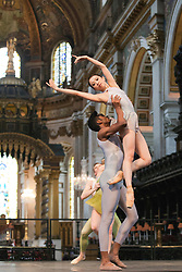 "© Licensed to London News Pictures. 03/07/2012. London, England. The English National Ballet performing the World Preimiere of ""The Four Seasons"" choreographed by Van Le Ngoc at St. Paul's Cathedral (dress rehearsal). Photo credit: Bettina Strenske/LNP"