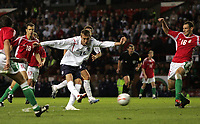 Photo: Paul Thomas.<br /> England v Hungary. International Friendly. 30/05/2006.<br /> <br /> Peter Crouch (C) of England scores.