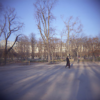 Tulliers gardens Paris France photograph taken with Holga film camera