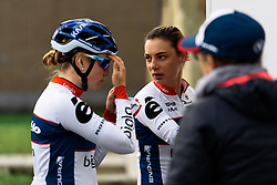 Ashleigh Moolman-Pasio gets ready for the biggest race of the Spring - Women's Ronde van Vlaanderen 2016. A 141km road race starting and finishing in Oudenaarde, Belgium on April 3rd 2016.