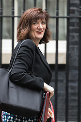 Downing Street, London, May 10th 2016. Education Secretary Nicky Morgan arrives at the weekly cabinet meeting in Downing Street.