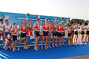 Rotterdam. Netherlands.   NED BM8+.  Bow. Michiel OYEN,  Nelson RITSEMA,  Michiel MANTEL,   Jaap SCHOLTEN,  Maarten HURKMANS,   Simon VAN DORP,  Lex VAN DEN HERIK,  Max PONSEN,  Diederik VAN ENGELENBURG, 2016 JWRC, U23 and Non Olympic Regatta. {WRCH2016}  at the Willem-Alexander Baan.   Friday  26/08/2016<br /> <br /> [Mandatory Credit; Peter SPURRIER/Intersport Images]