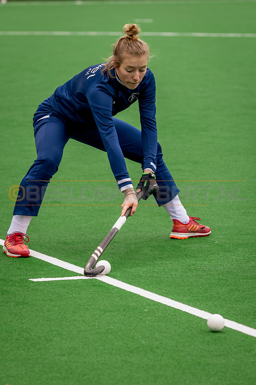 LAREN -  Hockey Hoofdklasse Dames: Laren v Pinoké, seizoen 2020-2021. Foto: Anouk Stam (Pinoké)