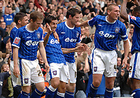 Photo: Ashley Pickering.<br /> Ipswich Town v Wolverhamptopn Wanderers. Coca Cola Championship. 27/10/2007.<br /> Pablo Counago (third L) celebrates the second goal for Ipswich with team mates
