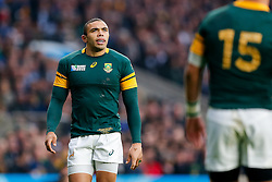 South Africa Winger Bryan Habana looks on - Mandatory byline: Rogan Thomson/JMP - 07966 386802 - 24/10/2015 - RUGBY UNION - Twickenham Stadium - London, England - South Africa v Wales - Rugby World Cup 2015 Semi Finals.