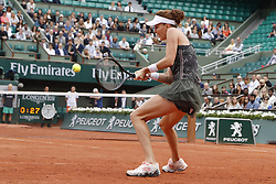 Poland's Agnieszka Radwanska was beaten by France's Alizee Cornet in the third round of the 2017 French Tennis Open in Paris, France on June 3rd, 2017. Photo by Henri Szwarc/ABACAPRESS.COM