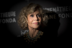 US actress Jane Fonda poses during a photo session before a retrospective of her career at the Cinematheque de Paris on October 22, 2018.Photo by Eliot Blondet/ABACAPRESS.COM