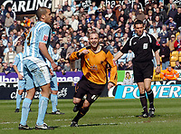 Photo: Kevin Poolman.<br />Wolverhampton Wanderers v Coventry City. Coca Cola Championship. 08/04/2006. <br />Colin Cameron celebrates his goal for Wolves.