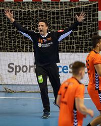 11-04-2019 NED: Netherlands - Slovenia, Almere<br /> Third match 2020 men European Championship Qualifiers in Topsportcentrum in Almere. Slovenia win 26-27 / Gerrie Eijlers #31 of Netherlands