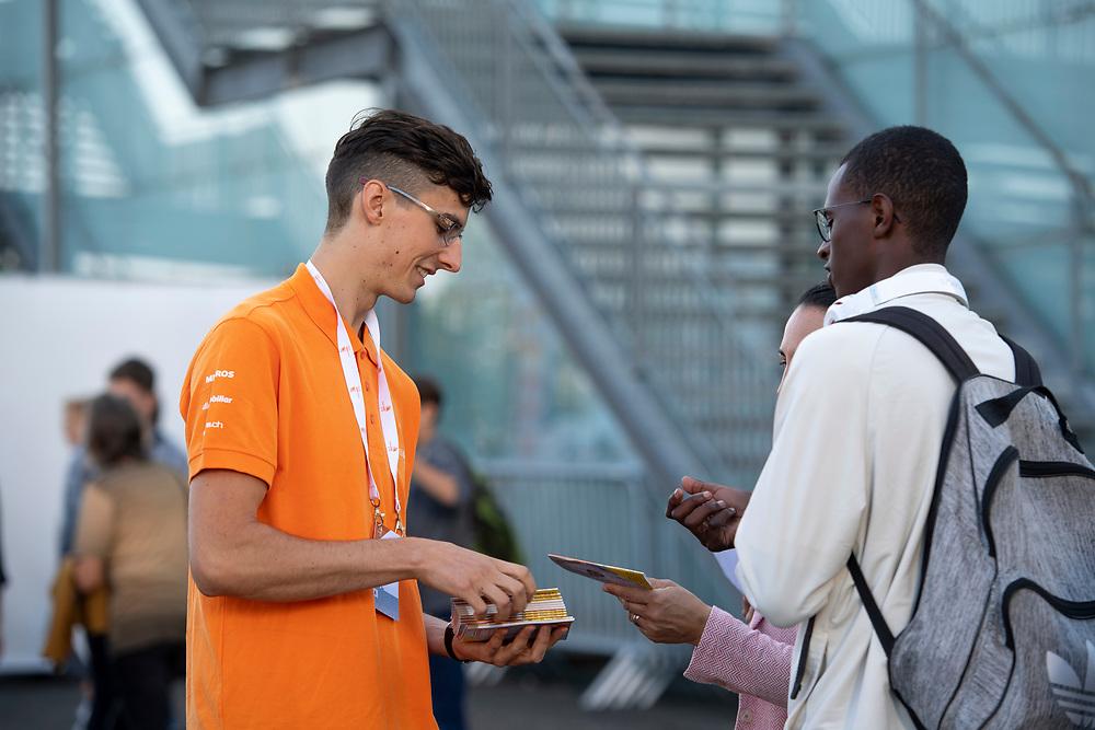 12. September 2018; Bern; swiss skills 2018  - 2. Tag - Volunteer im Einsatz (Michael Zanghellini)