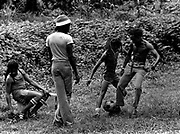 Peter Tosh visits Bunny Wailer on his Farm in Hectors River Portland Jamaica. 1978