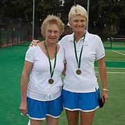 Elizabeth Allan, Australia, (left) and Kerry Ballard, Australia, Winners, 60 Womens Doubles during the 2009 ITF Super-Seniors World Team and Individual Championships at Perth, Western Australia, between 2-15th November, 2009.