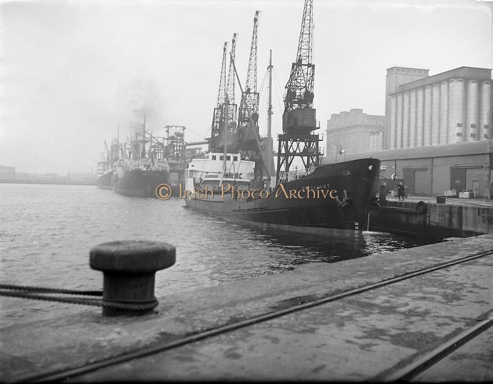 'Brilliant' Coal Boat departure from Alexandra Basin .02/12/1958 .