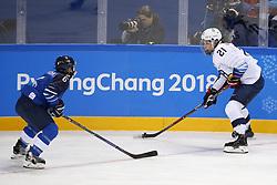 February 11, 2018 - Pyeongchang, KOREA - United States forward Hilary Knight (21) and Finland defenseman Jenni Hiirikoski (6)  during the women's hockey group A play during the Pyeongchang 2018 Olympic Winter Games at Kwandong Hockey Centre. The USA beat Finland 3-1. (Credit Image: © David McIntyre via ZUMA Wire)