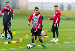 CARDIFF, WALES - Monday, October 5, 2020: Wales' Brennan Johnson during a training session at the Vale Resort ahead of the International Friendly match against England. (Pic by David Rawcliffe/Propaganda)
