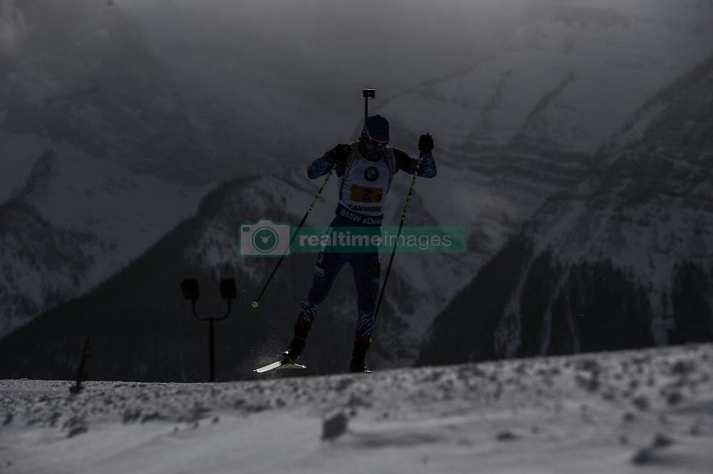 February 8, 2019 - Calgary, Alberta, Canada - Loginov Alexander (RUS) is competing during Men's Relay of 7 BMW IBU World Cup Biathlon 2018-2019. Canmore, Canada, 08.02.2019 (Credit Image: © Russian Look via ZUMA Wire)