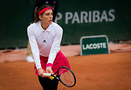 Andrea Petkovic of Germany in action during the first round at the Roland Garros 2020, Grand Slam tennis tournament, on September 28, 2020 at Roland Garros stadium in Paris, France - Photo Rob Prange / Spain ProSportsImages / DPPI / ProSportsImages / DPPI